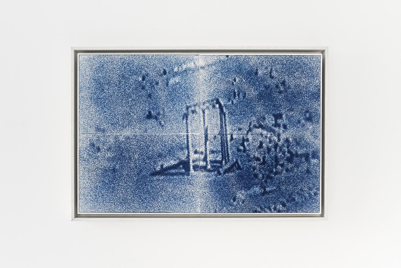 Atlal 2 ⎥cyanotype sur papier Arches⎥Caisse américaine ⎥36 x 55 cm⎥550 €