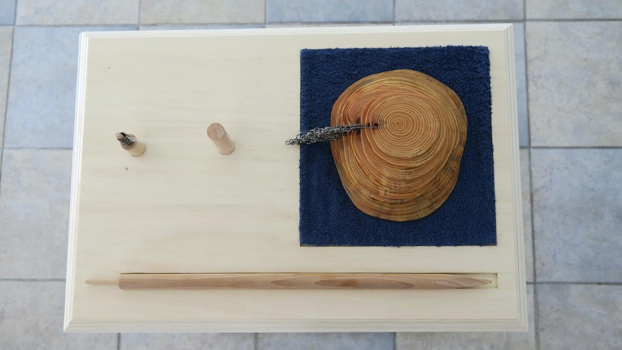 """Raphaël Galley, """"Bouchon"""" (2021), dispositif de création d'une oeuvre de Land Art aquatique. 3 000 €"""
