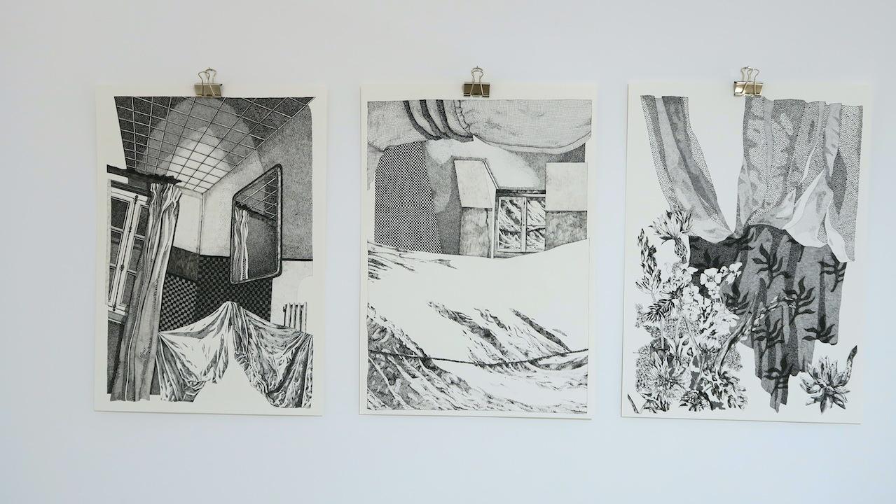 Elsa Broustet, dessins au feutre (2019), 29,7 x 42 cm. 700 € chacun