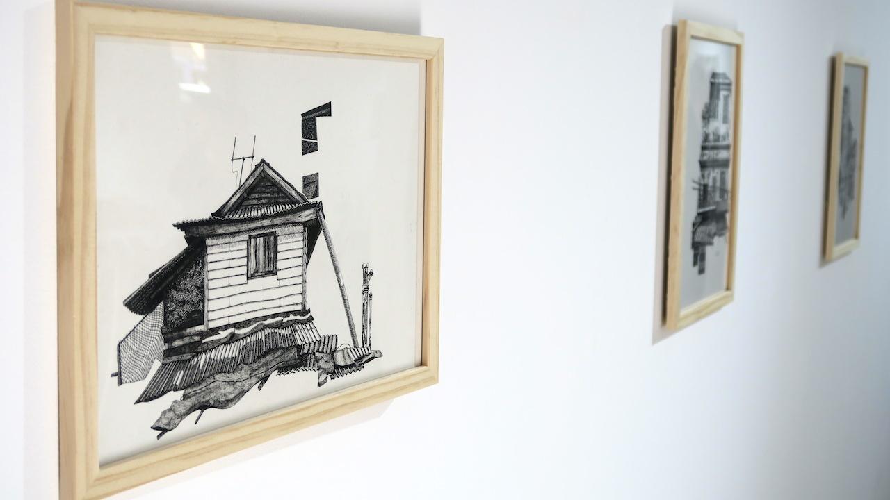Elsa Broustet, dessin au feutre sur papier (2020), 28,5 x 21 cm. 350 €